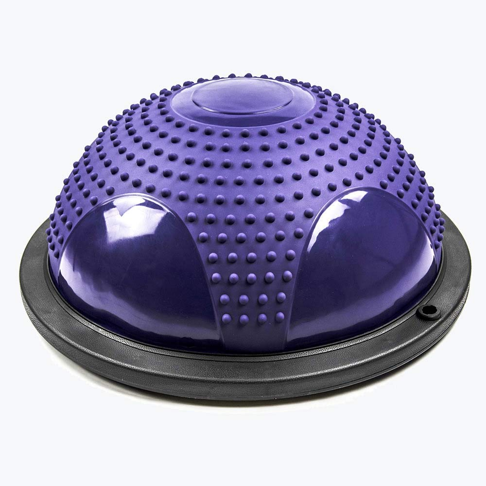 Violet Yoga Floating Point Massage Wave Speed Ball MultiCouleure équilibre Fitness Yoga Hemisphere Fitness Balle de Massage Wave Speed Ball -