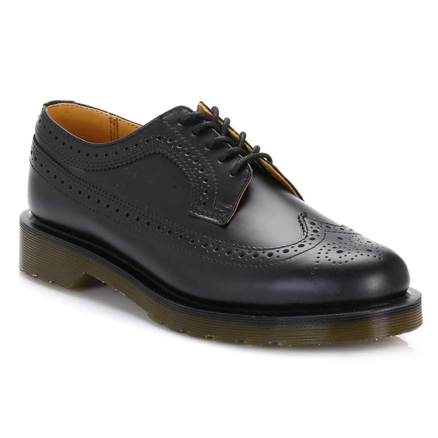 Dr. Martens Unisex 3989 Smooth Fashion Oxfords, Black, Leather, 8 M UK, M9/W10 M US