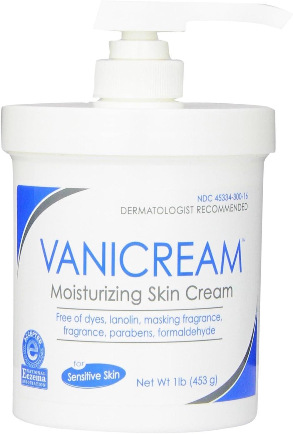 Vanicream Moisturizing Skin Cream with Pump Dispenser, 4 Pound Pack