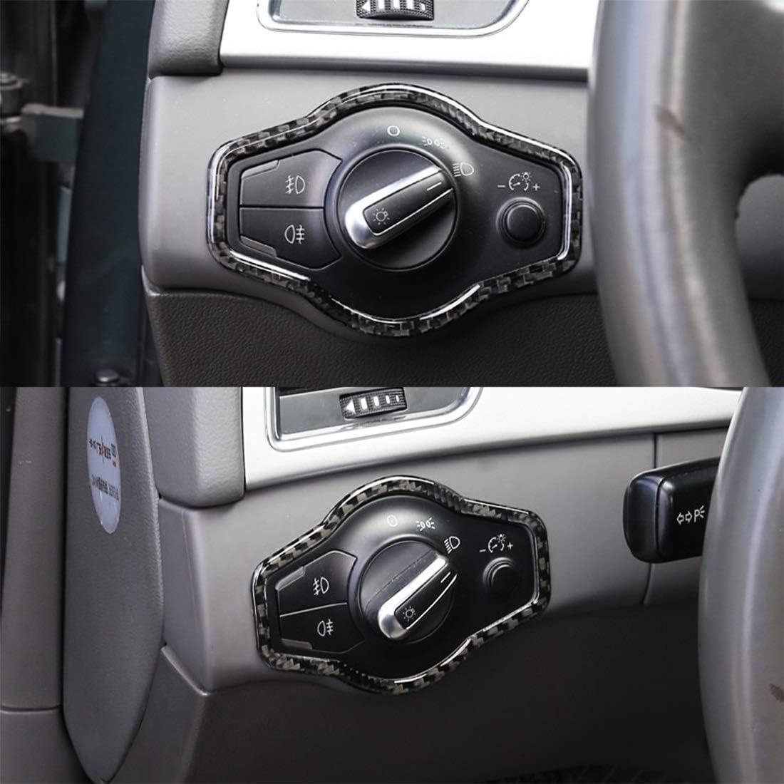 NoNo Autoinnenausstattung Linie Auto-Carbon-Faser-Scheinwerfer-Schalter Taste dekorative Aufkleber Autozubeh/ör A5 Fit for A4L Q5