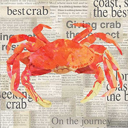 Paperproducts Design Crab Shack Paper Beverage Cocktail Napkin, 5 by 5-Inch by Paperproducts Design
