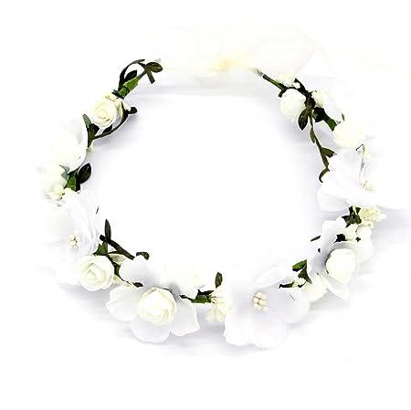 Oblique-Unique® Blumen Haarband Stirnband Blumenkranz Haarschmuck Kopfschmuck Bohemia Style Mädchen Damen - Farbe wählbar - (