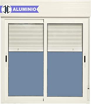 Ventana Aluminio Corredera Con Persiana PVC 1000 ancho × 1355 alto 2 hojas: Amazon.es: Bricolaje y herramientas