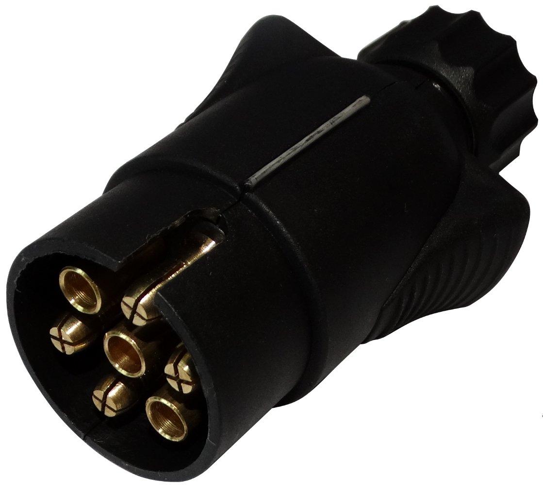 AERZETIX: Enchufe 7 pin macho toma conectador de remolque 7 broches 12V 6mm C12375 enganche haz cablea cableado luces traseras stop SK2-C12374-B299