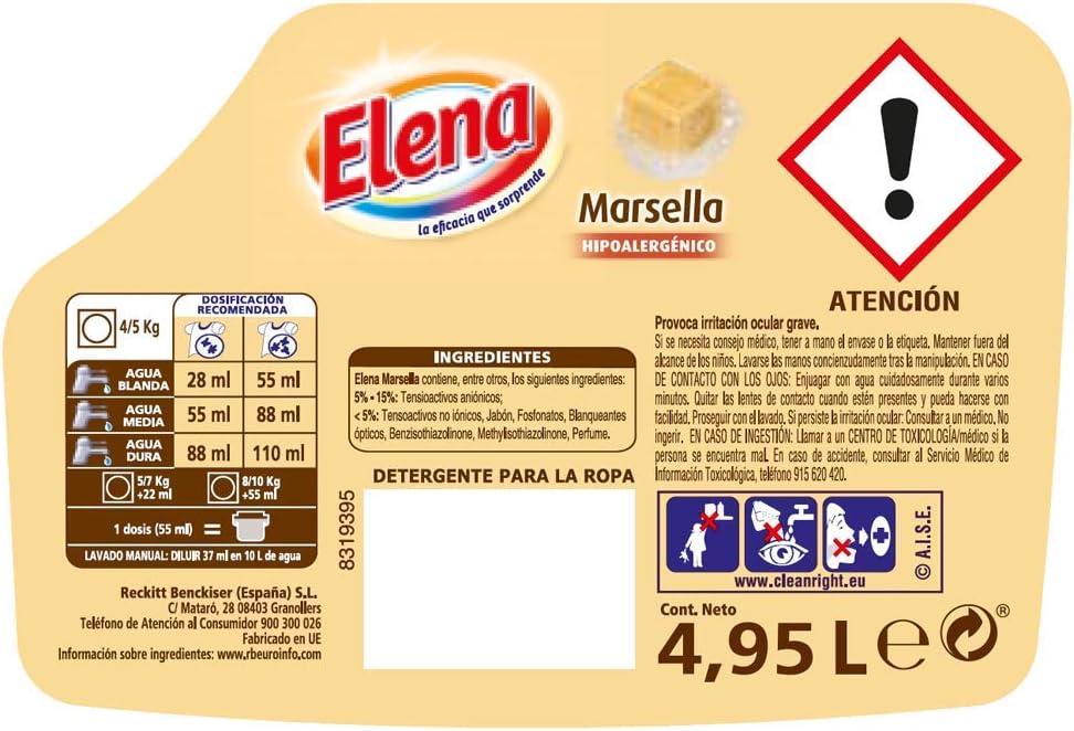 Elena Detergente para Ropa Líquido Marsella - 90 Dosis: Amazon.es ...