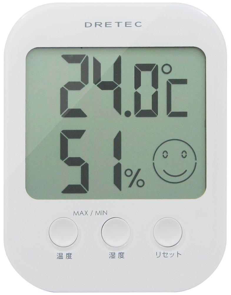 ドリテックデジタル温湿度計オプシスホワイトO-230WT
