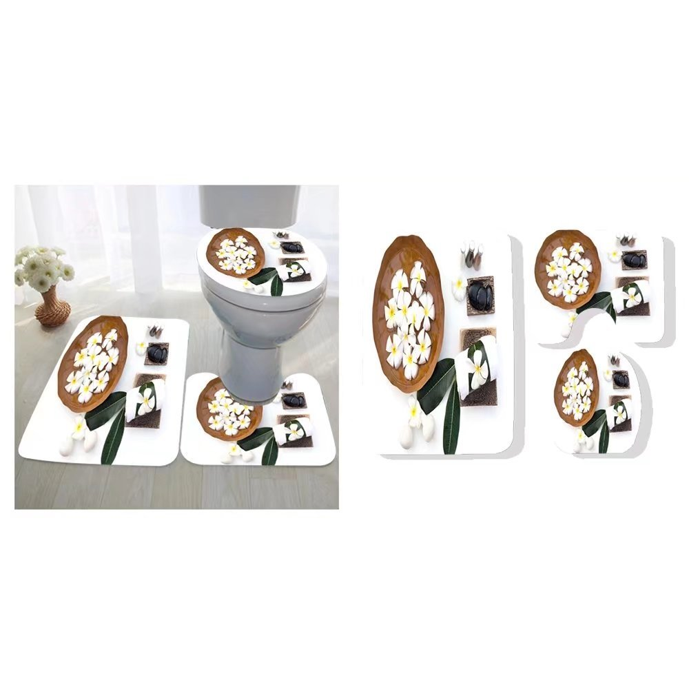 Philip C. Williams Three-Piece Toilet seat pad Custom spa Treatments and Massage on Wooden White Soft and Select Focus