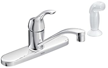 Moen CA87551 Adler Single Handle Faucet With Lever Handle And 9u0027u0027 Spout, ...