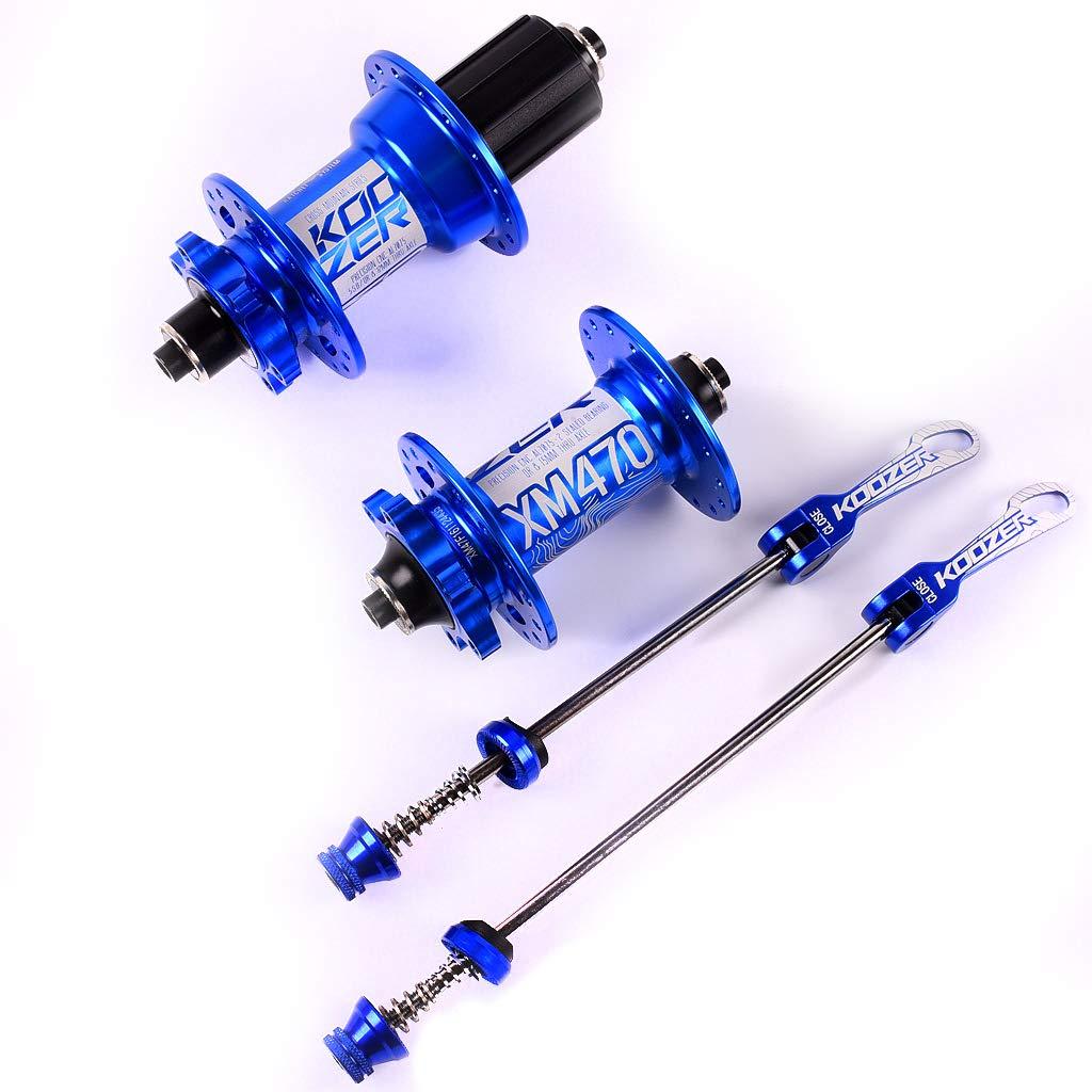 自転車ハブマウンテンバイクハブフロントリア クイックリリース付き XM470  blue B07Q3LB4L4