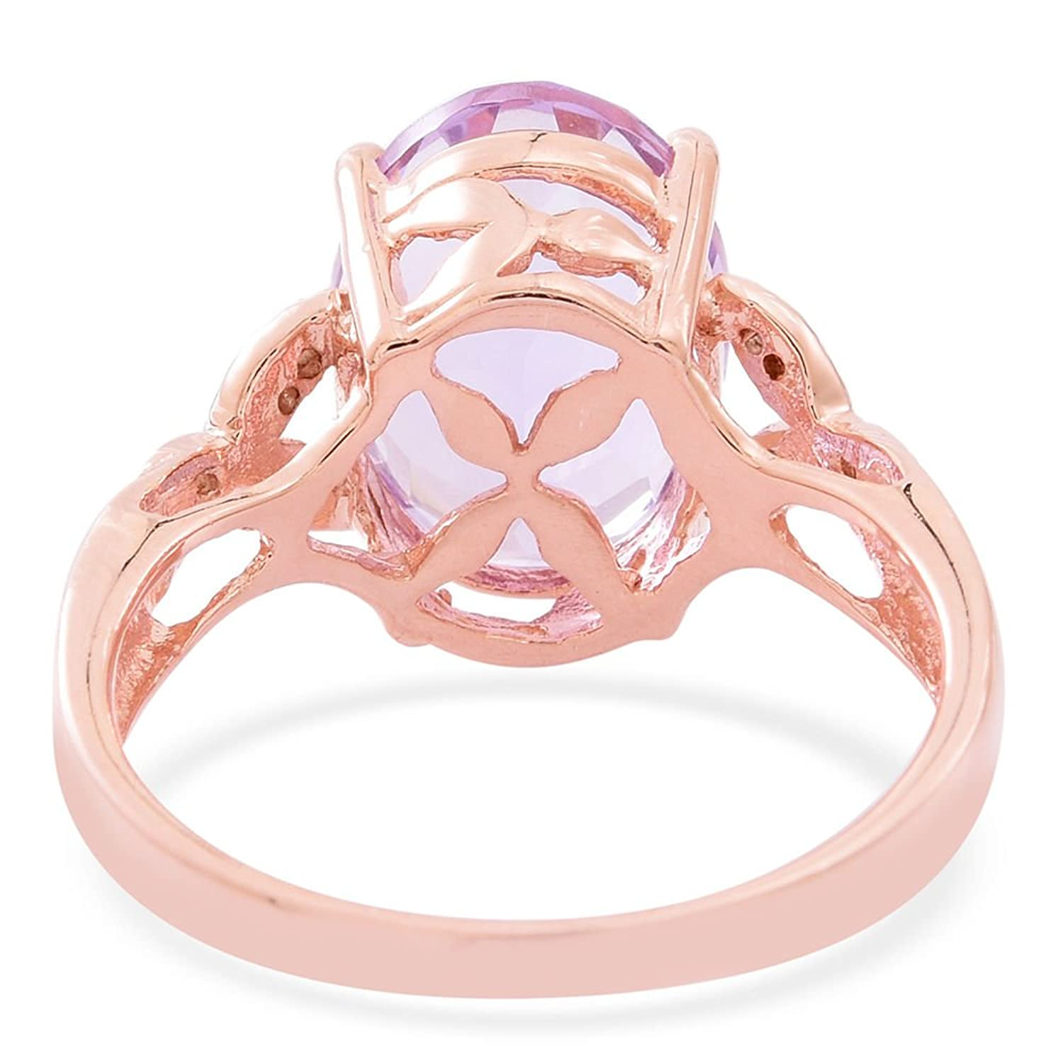 TJC Women Rose gold 925 Sterling Silver Rose De France and White ...