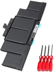 ROLADA A1494 Laptop Battery Replacement for MacBook Pro 15 inch Retina A1398 (Late 2013 & Mid 2014), fit Retina ME293 ME294 with Screwdrivers