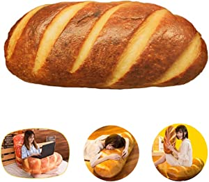 LZYMSZ 3D Simulation Bread, Plush Stuffed Food Lumbar Back Cushion,Soft 3D Butter Bread Cushion Throw Pillow for Sofa /Home Bedroom/ Office/ Dormitory in Valentine's Day, Christmas (31.5, Butter)