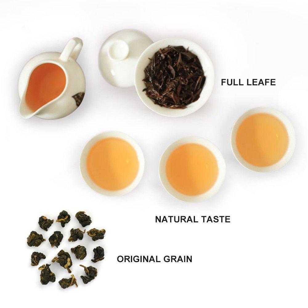 Yan Hou Tang 10 Years Aged Organic Taiwan Ginseng Black Oolong Tea Loose Leaf Deep fermented 150g 5.5Oz- Formosa High Mountain Honey Coffee Flavor Taste Wulong Grown Winter Help Repose Green Food