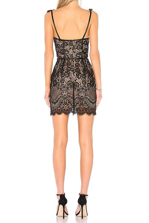 For Love Lemons Womens Tati Lace Corset Dress Noir Xs