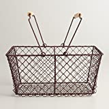 Rectangular Rustic Wire Basket 12''W x 5.5''D x 8''H