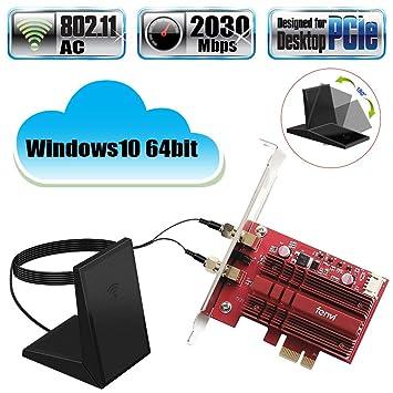 Amazon.com: Fenvi Desktop 9260 PCI tarjeta WiFi, Rojo ...