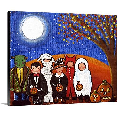 Trick or Treat Kids Canvas Wall Art Print, 30