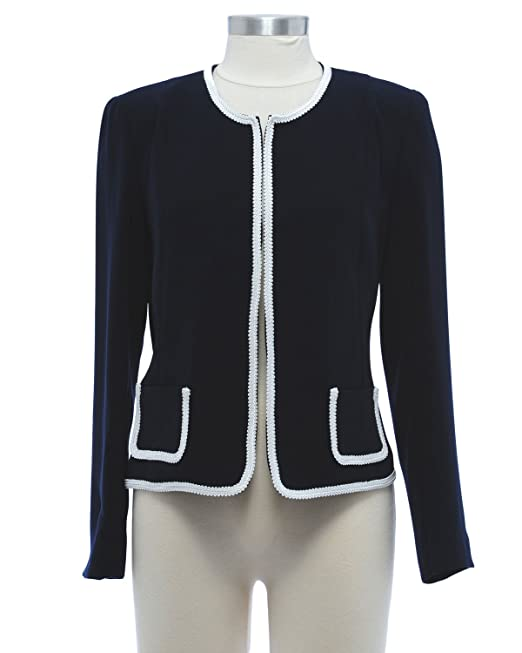 Chanel ven chaqueta corta de color azul oscuro: Amazon.es ...