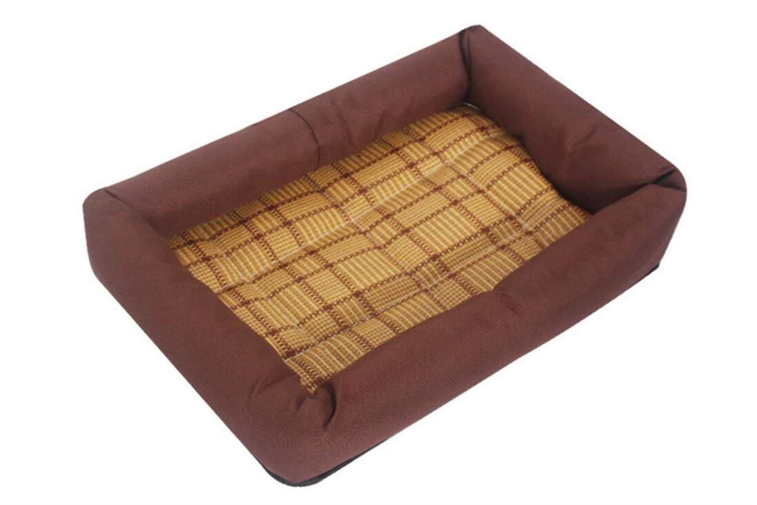 Coffee LGKKXUE Cat nest, Cool pet bed, Kitten puppy sleeping bag, Cat sofa (color   Coffee, Size   L)