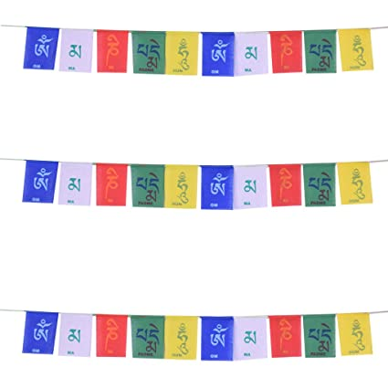 Ryme Buddhist Tibetan Flag For Carbike Pack Of 3 Amazon Home
