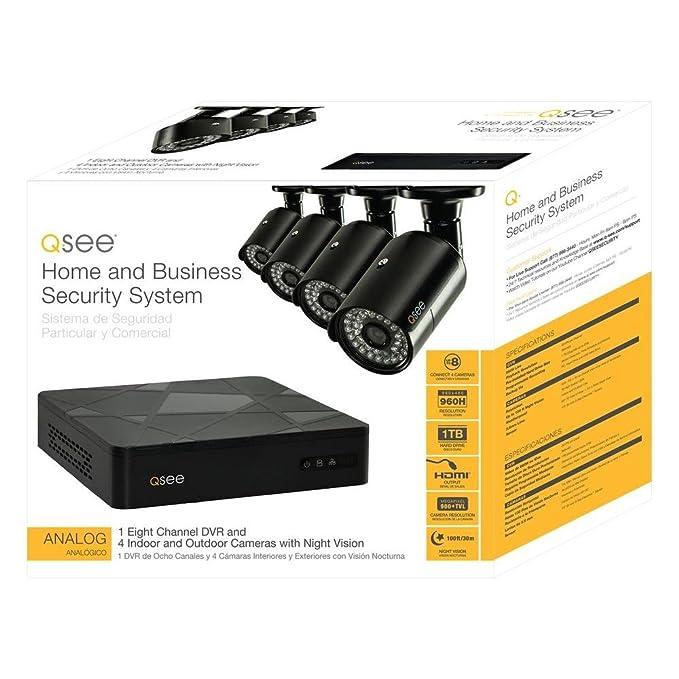 Amazon com : Q-See QT598-4V6-1 8 Channel Full 960H System
