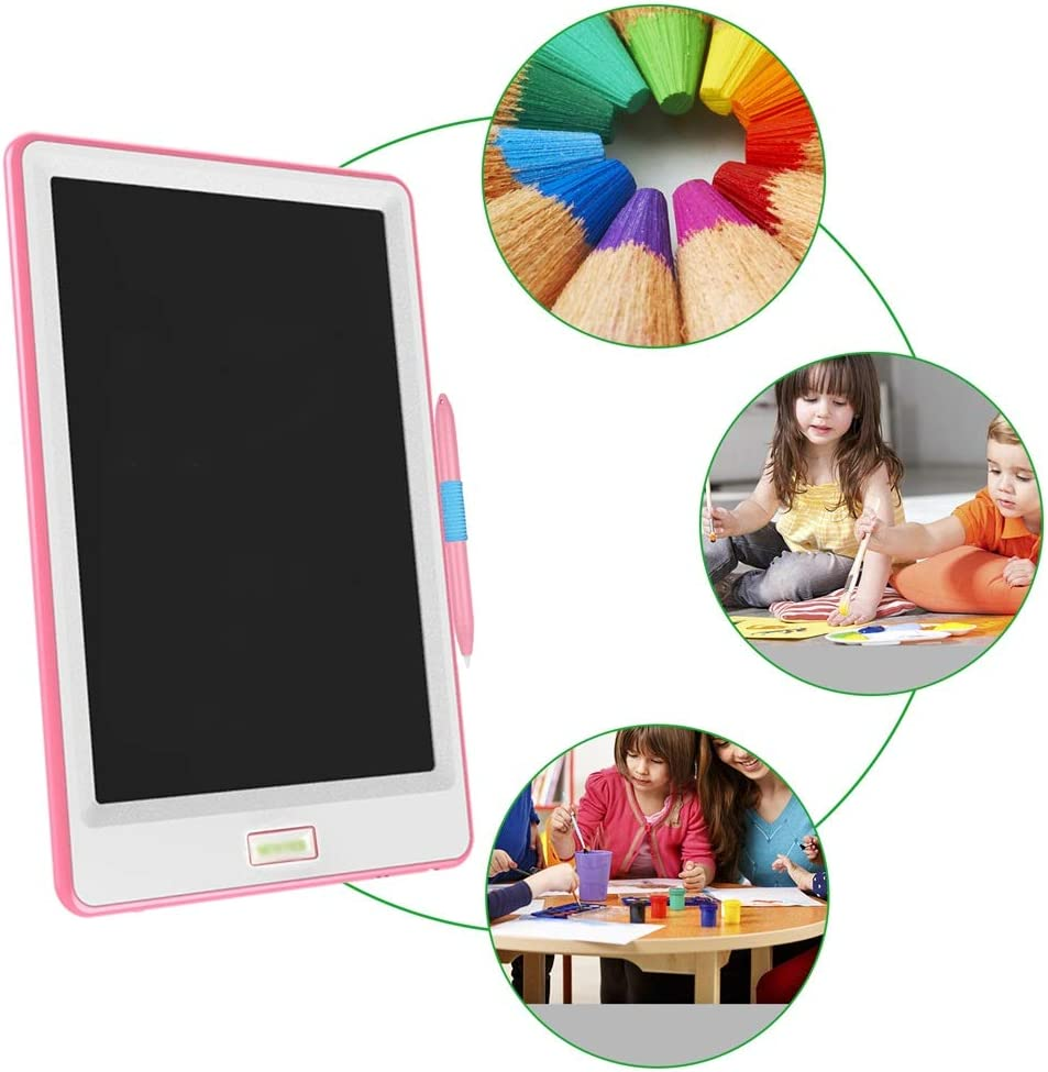 CVEUE CO LCD Writing Tablet 3 Pcs 10 Inch Graffiti Pad Paperless LCD Handwriting Drawing Board for Student Electronic LCD Writing Tablet Kids Color : Pink, Size : 10 inches