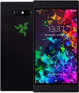 Razer Phone 2 (New): Unlocked Gaming Smartphone – 120Hz QHD Display – Snapdragon 845 – Wireless Charging – Chroma – 8GB RAM - 64GB - Satin Black (Renewed)