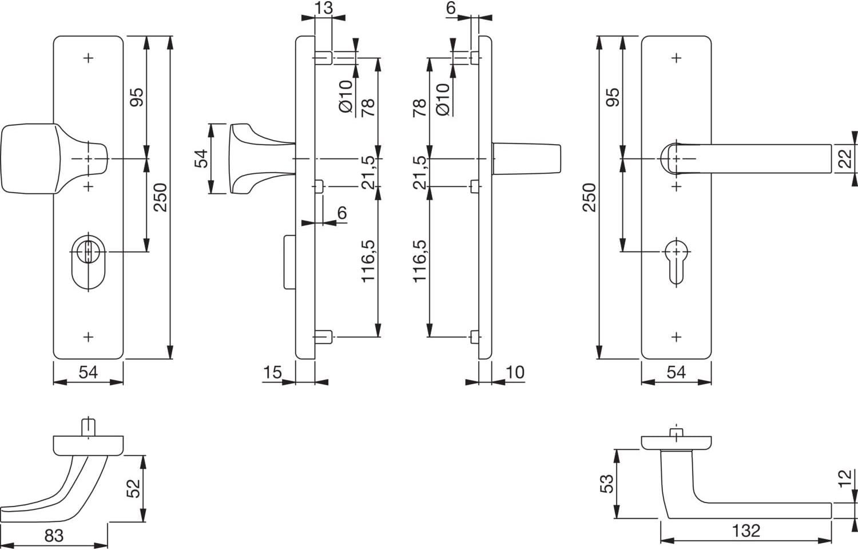 /Ö-Norm Entfernung 88mm Pr/üfung: RC3 nach EN 1906 1 St/ück Sicherheitsbeschlag mit Kernziehschutz Langschild Profilzylinder f/ür T/ürst/ärke 62-72mm silber eloxiert HOPPE Haust/ür Eingangst/ür Wechselgarnitur DALLAS