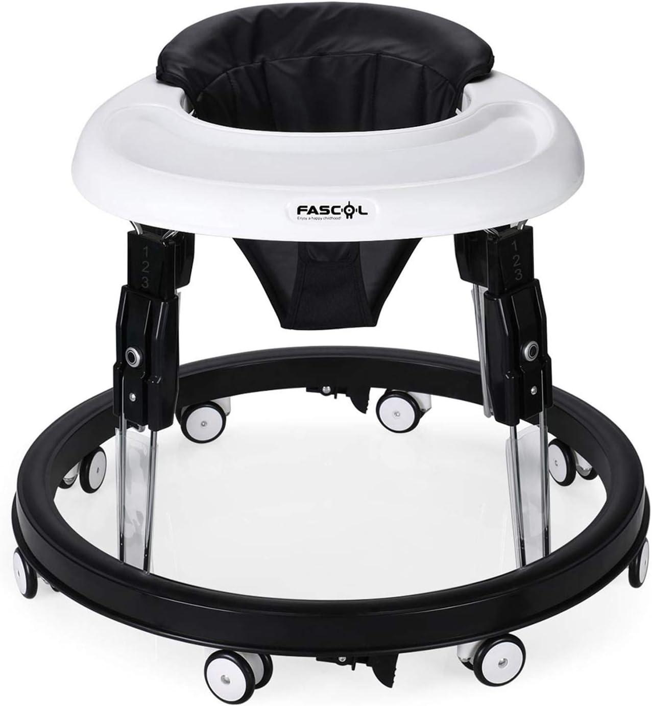Fascol Andador Bebe,Plegable Caminador con Plato Desmontable y 8 Ruedas Silenciosas para Bebes Mayores de 8 Meses