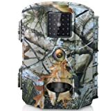 Olymbros Trail Wildlife Camera 16MP 1080P Game Infrared Cam with Night Vision Motion Activated 82ft No Glow IR Light IP66 Waterproof for Home Garden Security Surveillance Fox Hunting Scouting