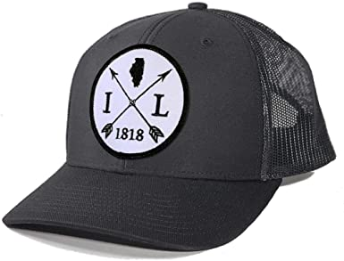 Homeland Tees Mens Illinois Home Patch Navy Cotton Twill Hat