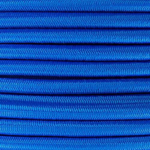PARACORD PLANET 3/8 Inch Elastic Bungee Nylon Shock Cord Stretch String Crafting – Various Colors – 10, 25, 50 & 100FT Lengths Made In USA by PARACORD PLANET