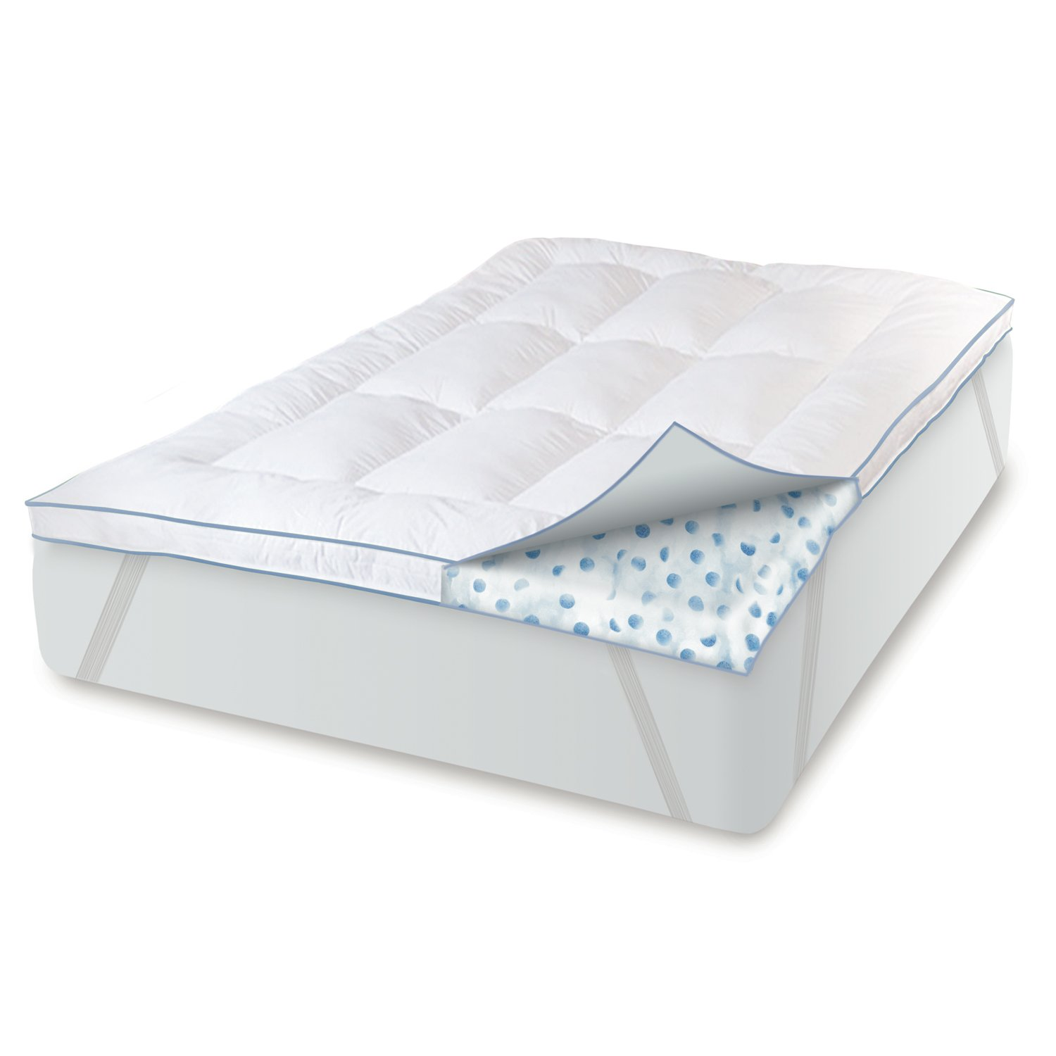 amazon com biopedic memory plus deluxe 3 inch gel memory foam and