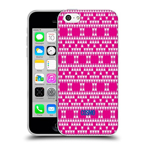 Official Cosmopolitan Hot Pink Boho Patterns Soft Gel Case for Apple iPhone 5c