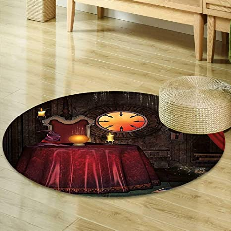 Amazon Com Round Area Rug Carpet Gothic Decor Fortuneteller Room