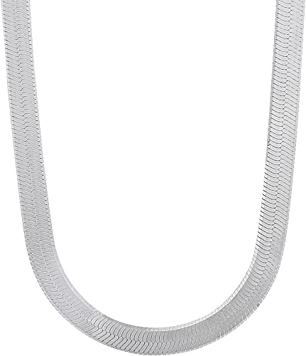 SOLID 925 STERLING SILVER Oval Snake CHAIN NECKLACE 3.3MM WIDTH MADE IN ITALY