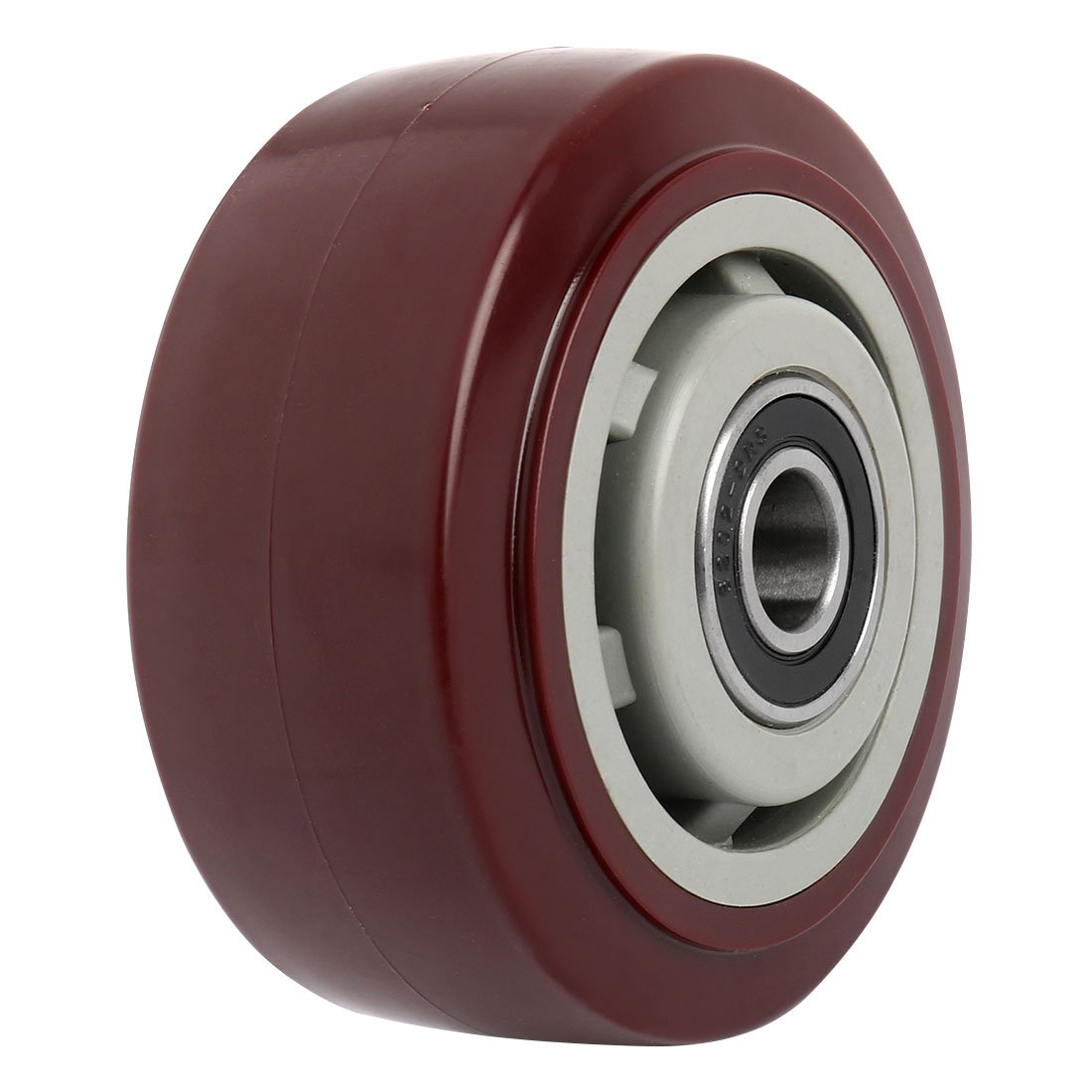 uxcell 4'' Polyurethane on Hard plastic Wheel, Replacement For Carts, Furniture, Dolly, Workbench, Wheel Only, Red
