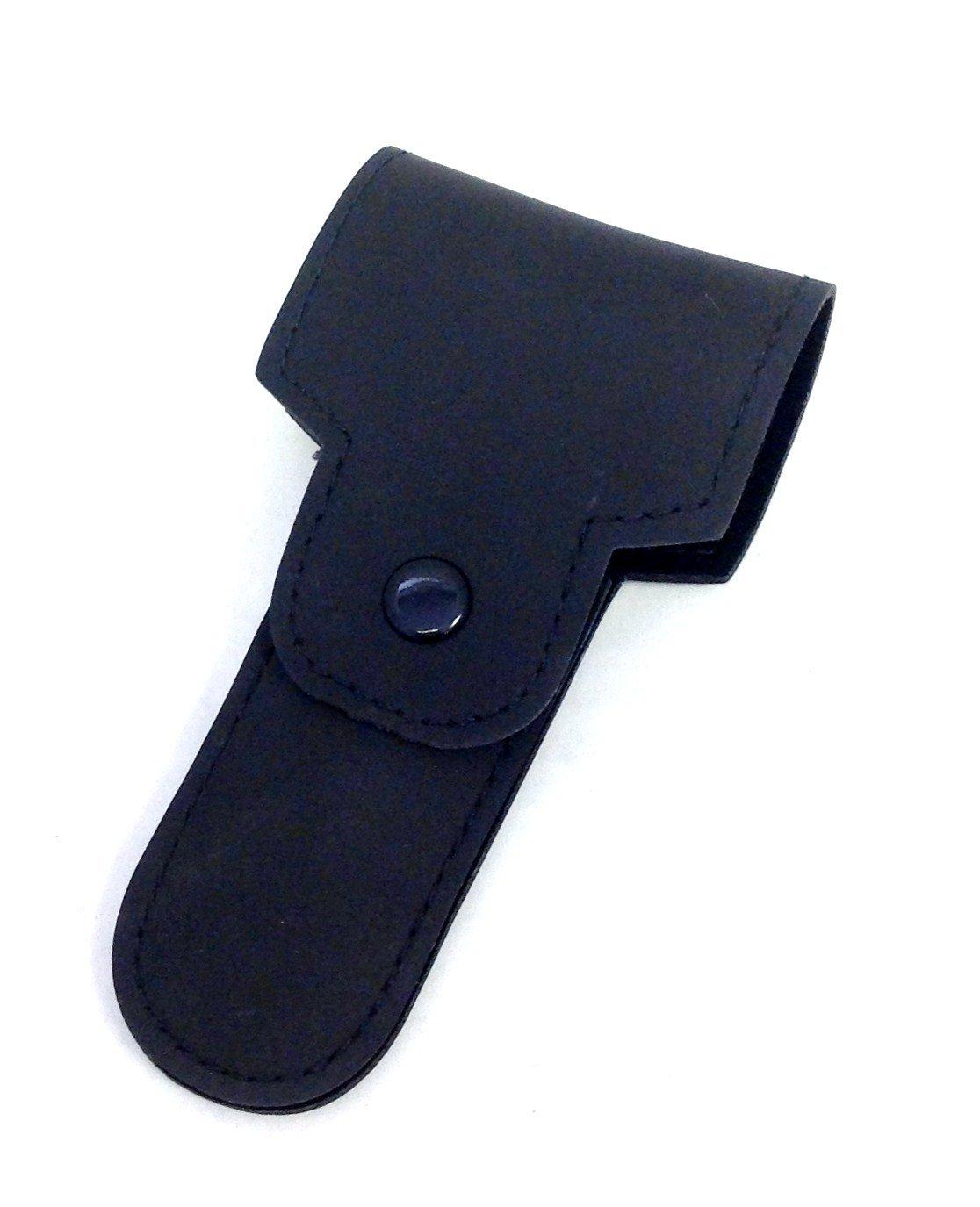 Double Edge Razor Case -- Black Leather GBS W4-1BQM-2DPP