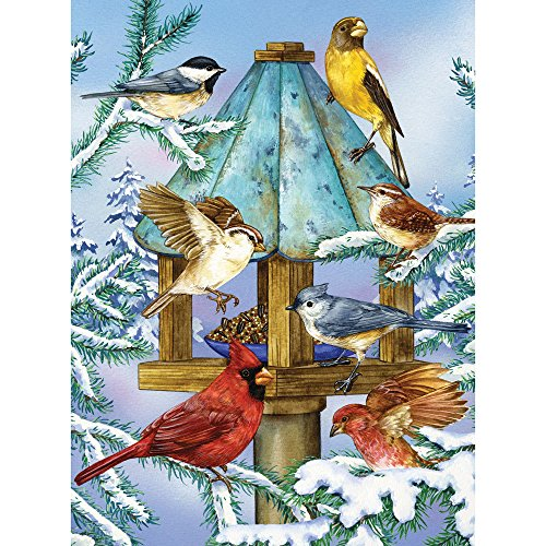 Bits and Pieces - 500 Piece Jigsaw Puzzle for Adults - Cold Feet, Happy Heart - 500 pc Winter Birds Jigsaw by Artist Jane Maday (500 Piece Puzzles Birds)