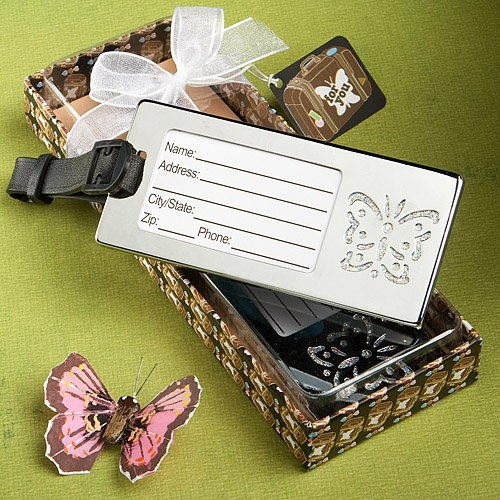 Destination Love Luggage Tag - SALE - FASHIONCRAFT Destination Love Collection Butterfly Design Luggage Tags
