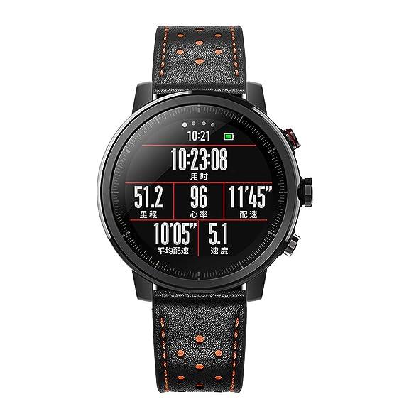 Amazon.com: Correa de reloj de cuero 2019 para Huawei ...