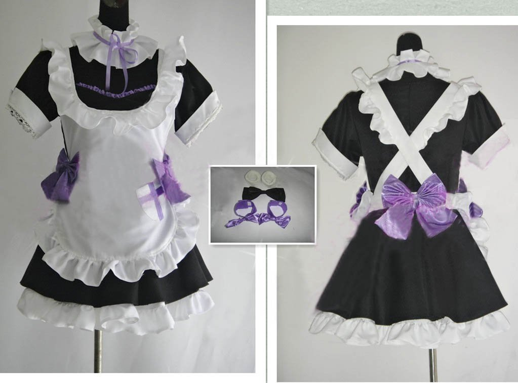 Love Live! West Kino Mahime also approaching Cosplay 7-piece set (+ foot ribbon ribbon + T-back of neck ribbon ribbon + + + Dress + apron apron) c240 in ''love'' tightly (japan import)