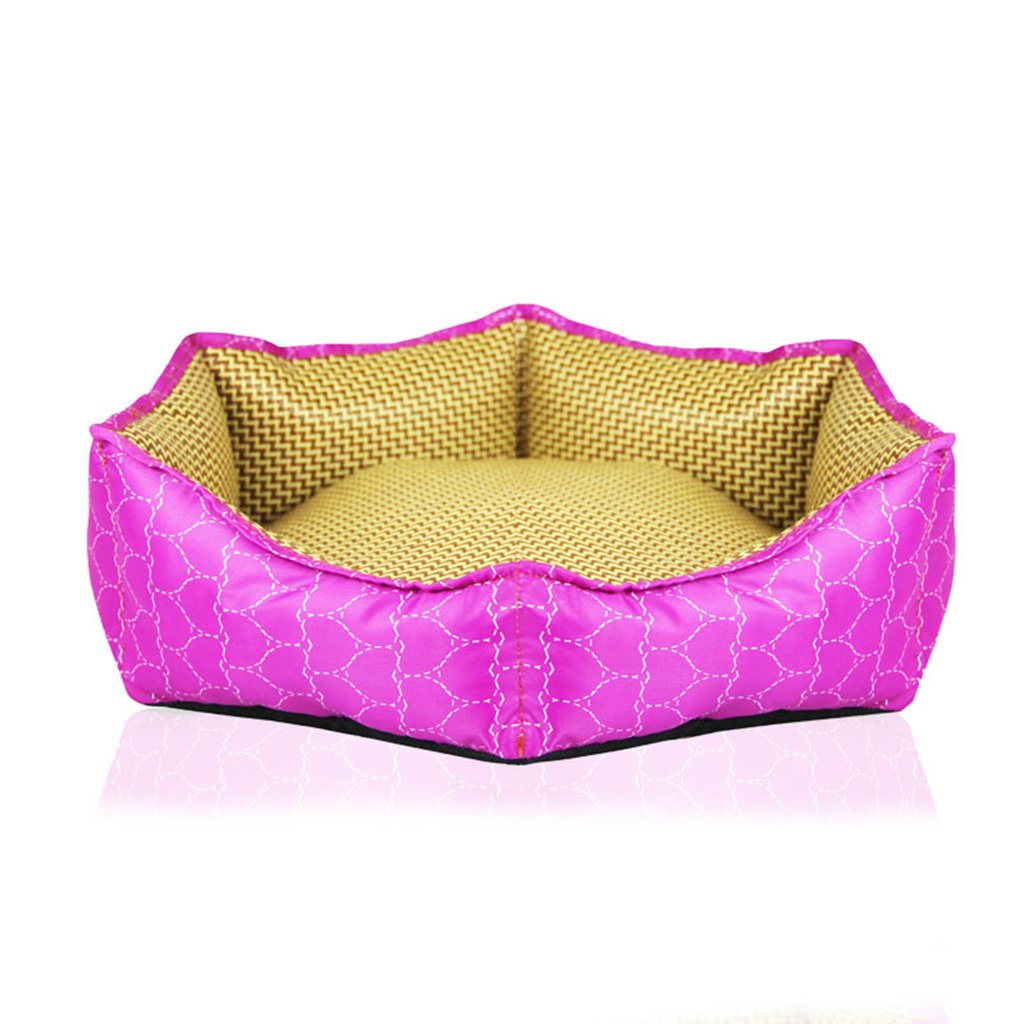 A %Pet Bed Hexagonal Bamboo Kennel Pad Pet SuppliesX874 Pet Supplies (color   A)