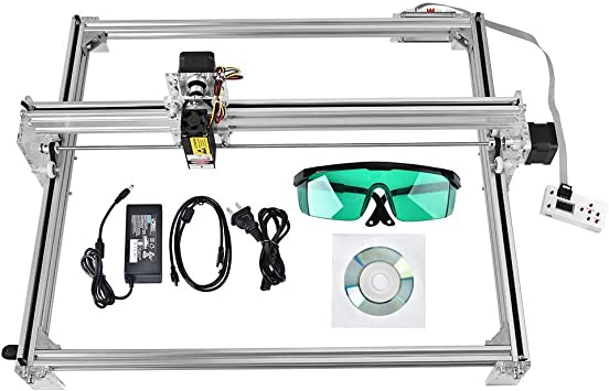 impresora de marcado de logotipo impresora de escritorio de 50x40 cm TOPQSC 15W Kit de m/áquina de grabado l/áser CNC m/áquina de corte de grabado de talla de madera USB de 12 V