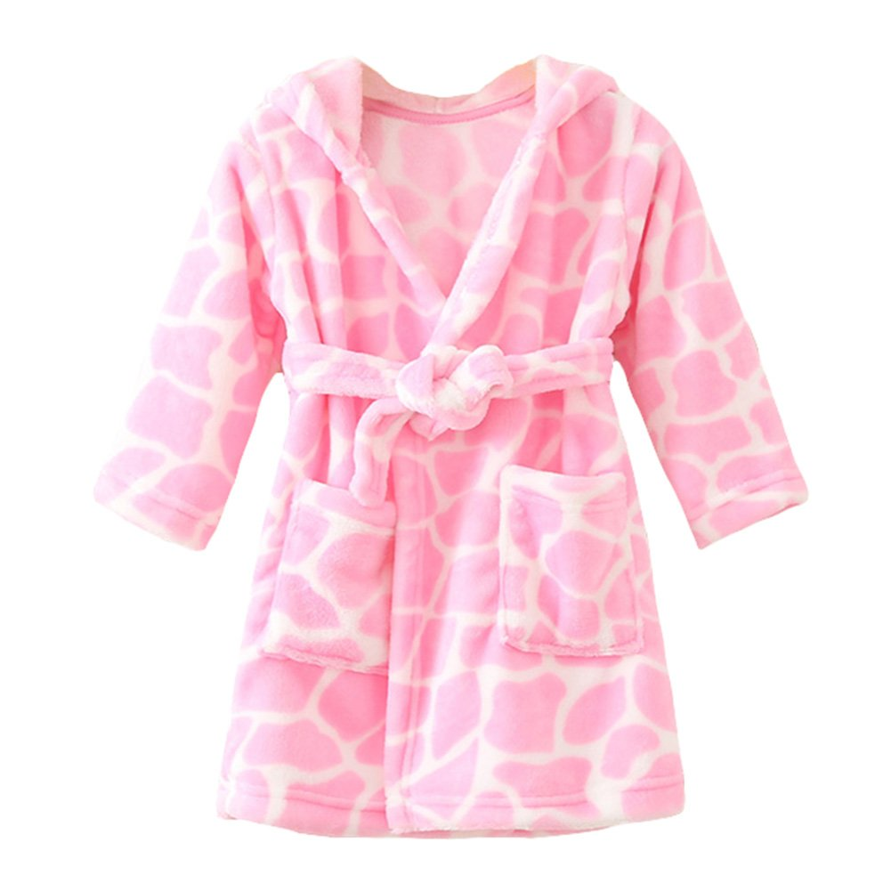 YOLIA Unisex Kids Robes Cute Hooded Sleepwear Soft Fleece Bathrobes  Housecoat Gowns  Amazon.co.uk  Clothing 8c517ebff