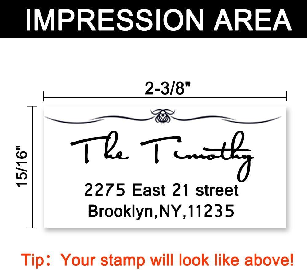 Personalizzato timbro indirizzo,Timbri autoinchiostranti per timbri indirizzo 3 linee,coppia indirizzo timbro auto inchiostrazione gomma