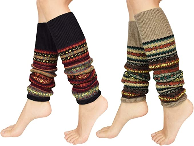 Striped Leg Warmers for Ladies and Girls Cuff Boot Socks