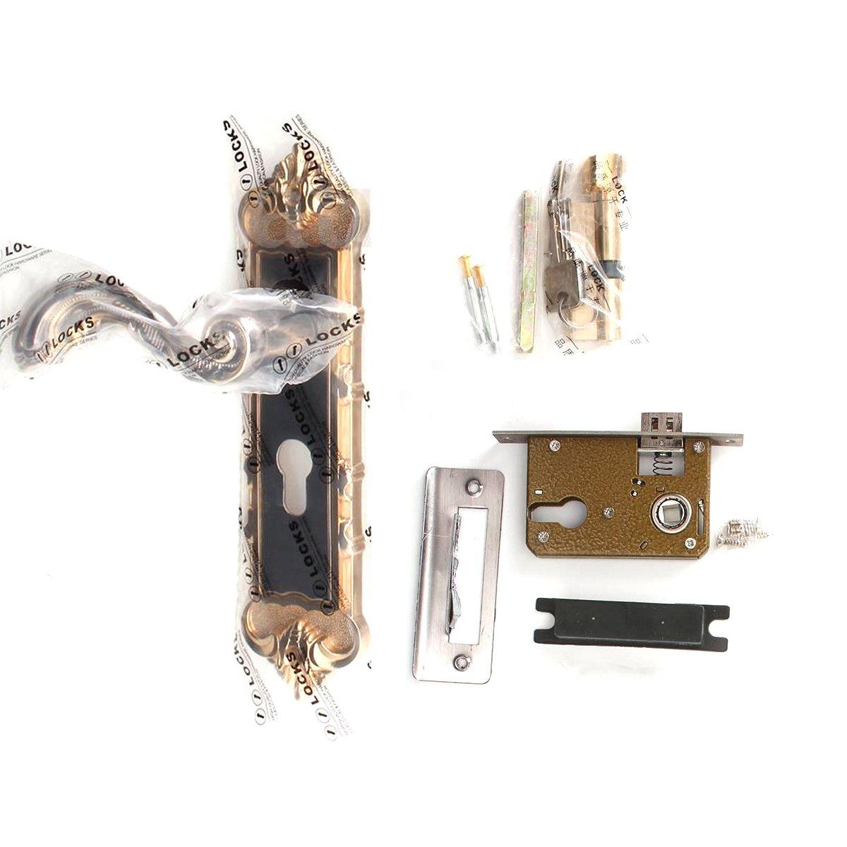 Aluminum Entry Indoor Lever Door Lock Set Bedroom Handle Knob Lockset & Keys by TFCFL (Image #3)