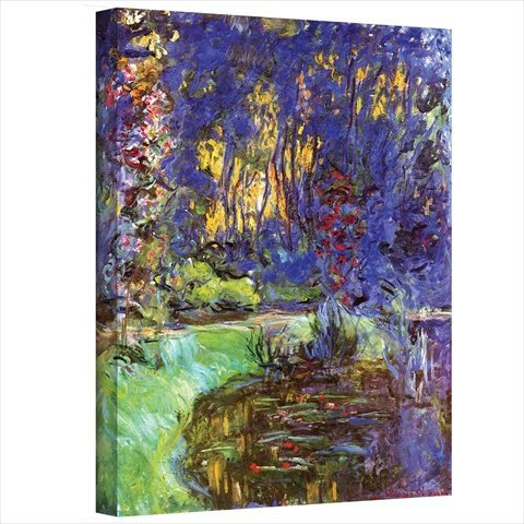 Art Wall Garden at Giverny Gallery Wrapped Canvas by Claude Monet,  flower wall art