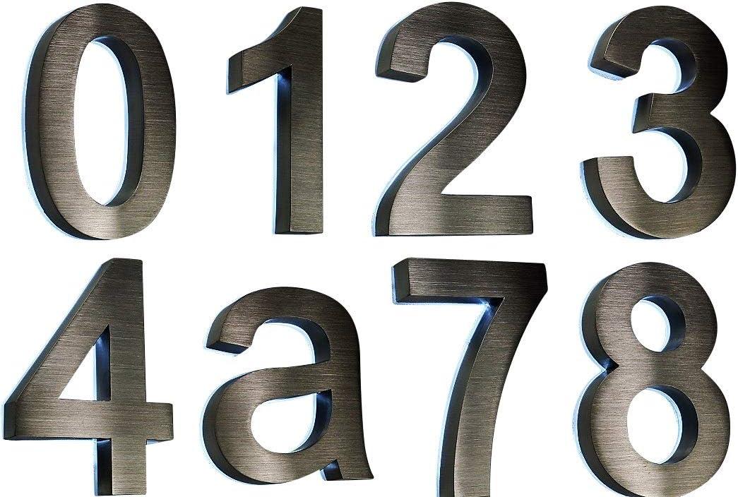 anthrazit 2D ITC Bauhaus im Shop Hausnummer 1 Edelstahl V2A diamant 0 1 2 3 4 5 6 7 8 9